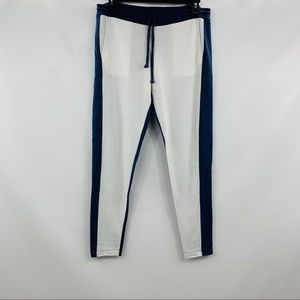 Chaser Blue White Tappered Drawstring Sweatpants